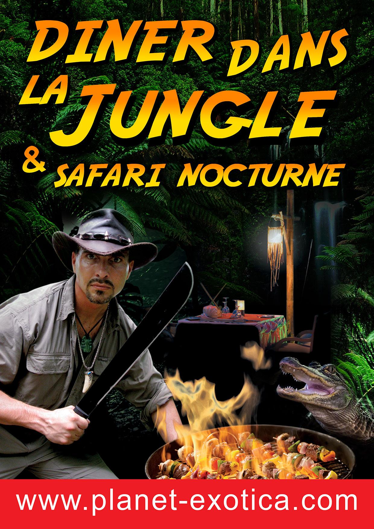 27. Fév. 2015 – Dîner dans la Jungle & Safari nocturne