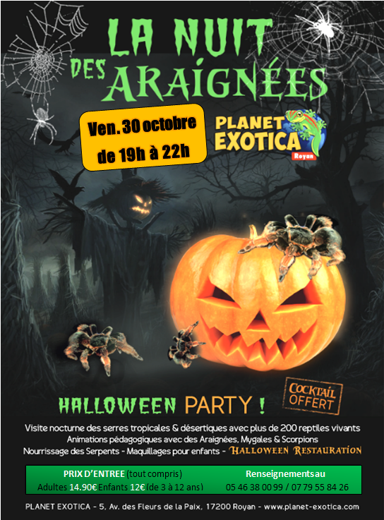 30. octobre 2015 Planet Exotica fête Halloween